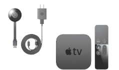 Chrome Cast and Apple TV