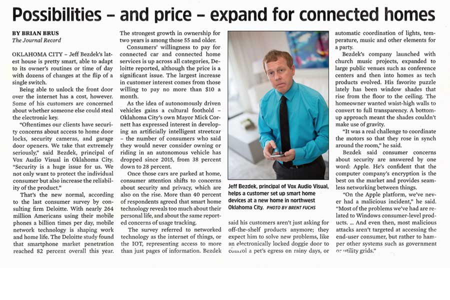 Possibilities and price expand for connected home services